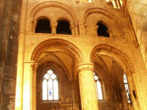 Selby Abbey, nave, north arcade, early twelfth century