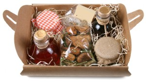 Cute little natural food hamper